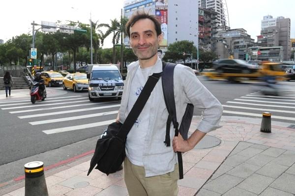 French filmmaker Jean-Robert Thomann in Taipei. (CNA photo)
