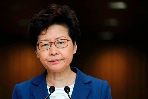 Hong Kong leader Carrie Lam. (Facebook photo)