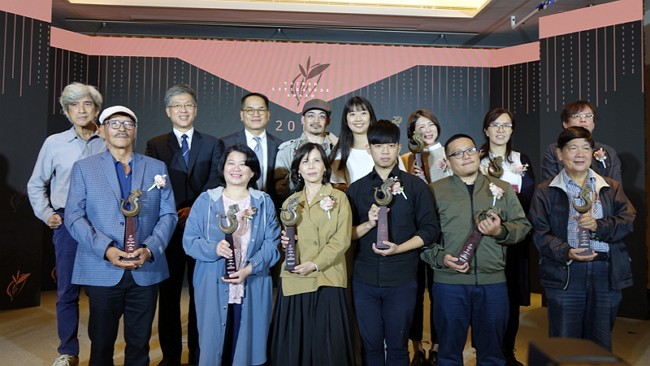 2019 Taiwan Literature Award winners (National Museum of Taiwan Literature photo)
