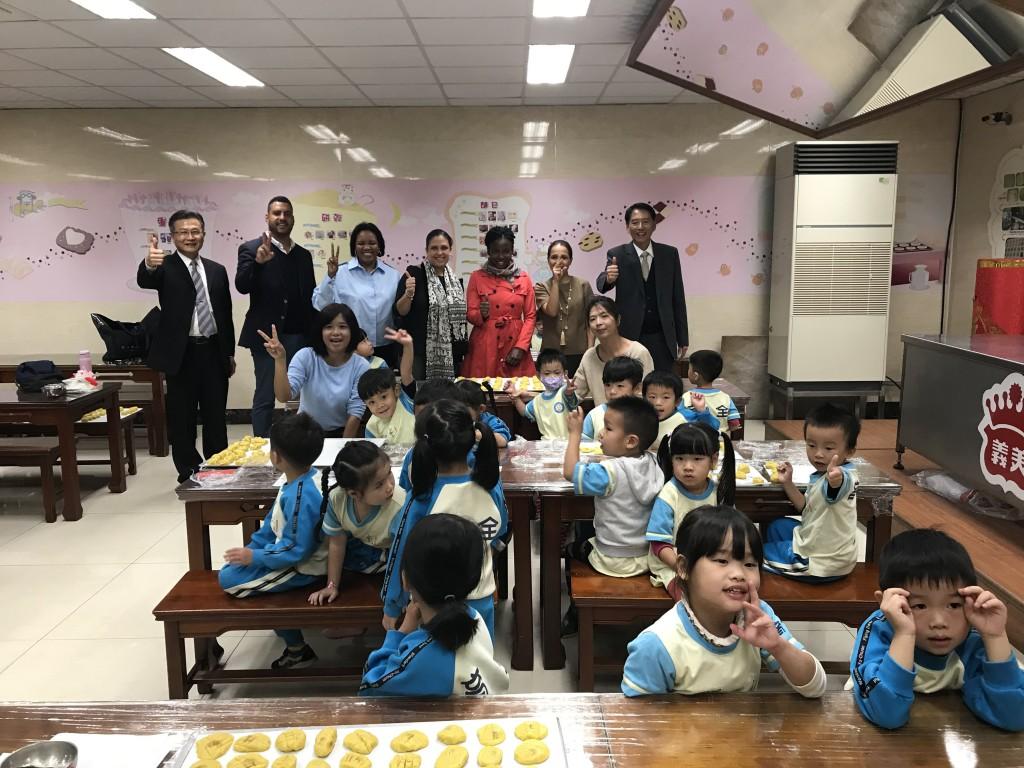 Haitian delegation tours I-Mei factory in Taiwan