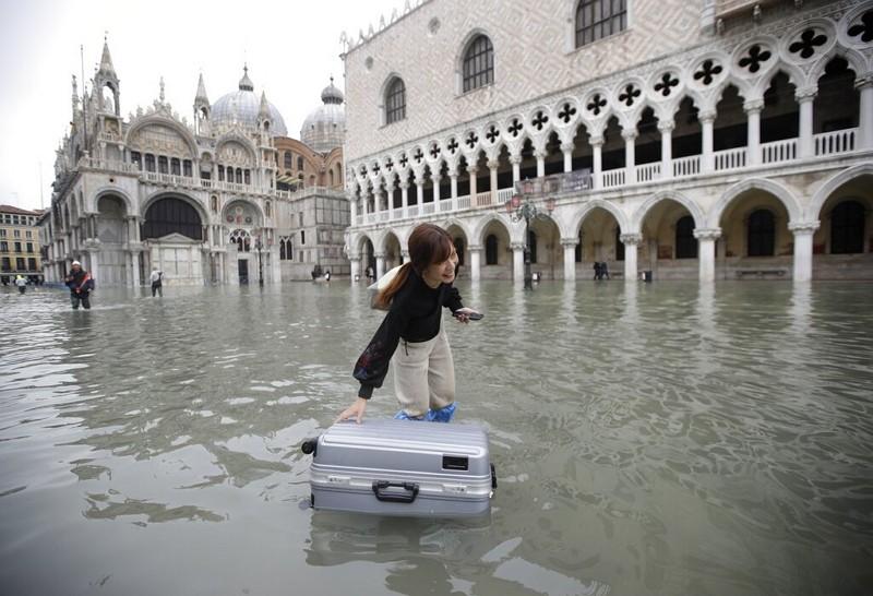 威尼斯洪災(AP)
