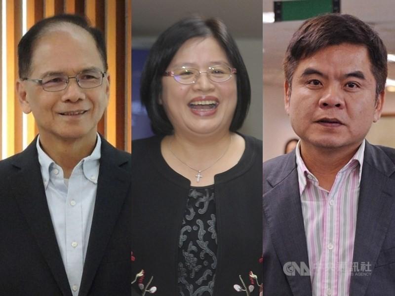 左起依序為游錫堃、吳玉琴、莊瑞雄。(中央社檔案照)