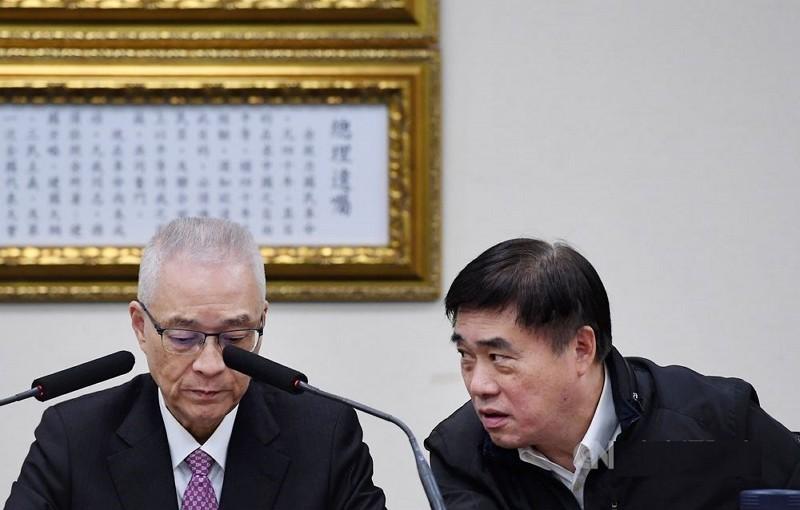 Wu Den-yih (left) and Hau Lung-bin.