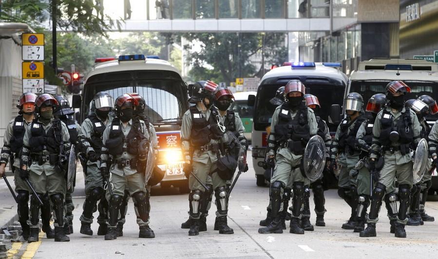 香港鎮暴警察(圖/AP)