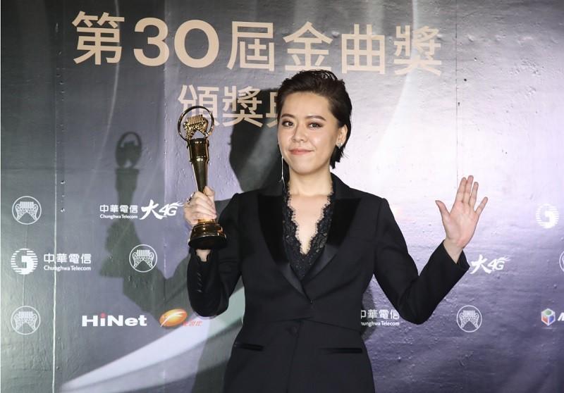 金曲獎台語歌后江惠儀排在第15名 (中央社檔案照片)