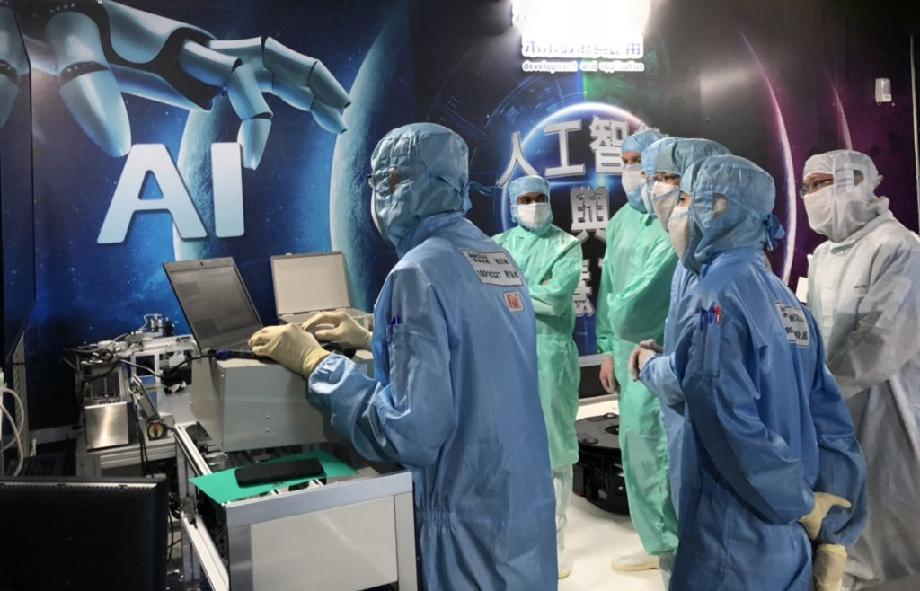 U.S. managers undergoing AI training in Taiwan. (Foxconn Technology photo)