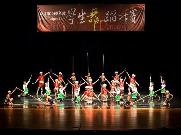 樟樹國小-參加新北市學生舞蹈比賽。(圖/新北市政府教育局)