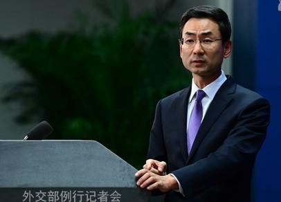 圖為中國外交部發言人耿爽。(檔案圖取自中國外交部官網)