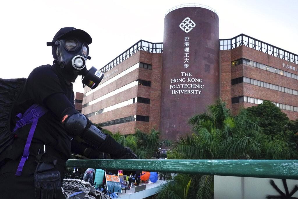 香港理工大學。(圖/美聯社)