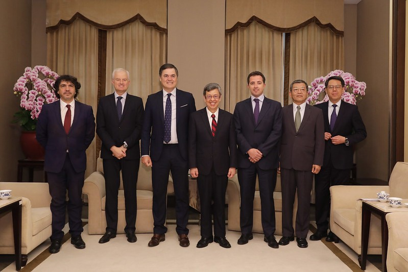 副總統陳建仁21日接見西班牙眾議員訪團(照片來源:總統府提供)
