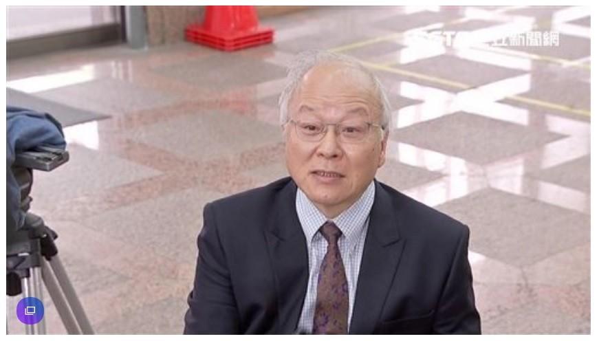 Kuo Kuan-ying in CEC hallway. (SET News screenshot)