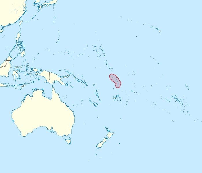 Tuvalu location in Pacific.