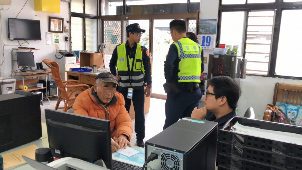 A Japanese man (left) overstayed his visa by 36 years (photo by Yuli Police).