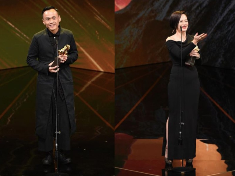 Best Leading Actor Chen Yi-wen, and Best Leading Actress Yeo Yann-yann (Golden Horse photo)