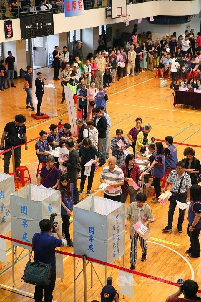 中選會9月21日曾邀請民眾舉辦模擬演練觀摩會,假想投票過程可能發生的各式情況。(中央社)