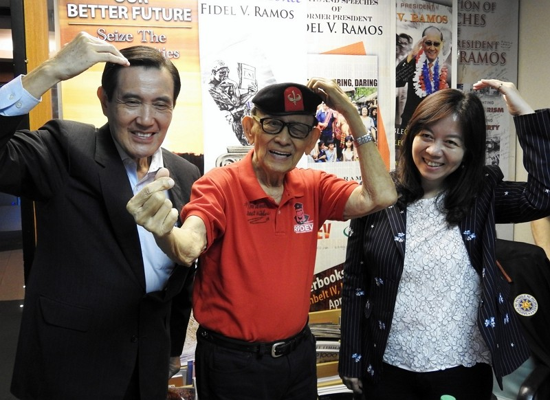 Ma Ying-jeou, Fidel Ramos, and Tung Hui-chen