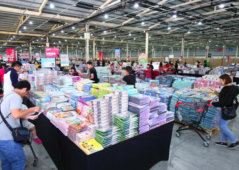 共有200多萬本書籍供挑選(圖/大野狼國際書展)