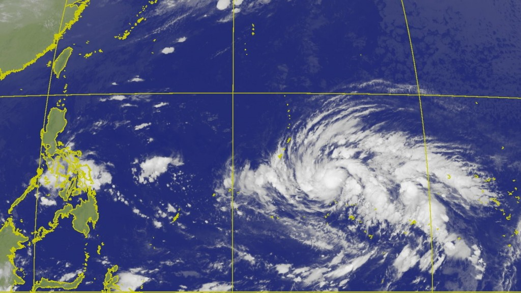 (CWB satellite image of Tropical Storm Kammuri)