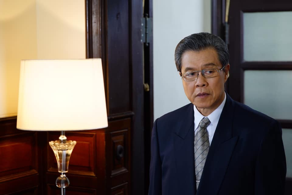 """Actor Yang Lieh plays the president in """"Island Nation"""" (Facebook/IslandNation1990 photo)"""