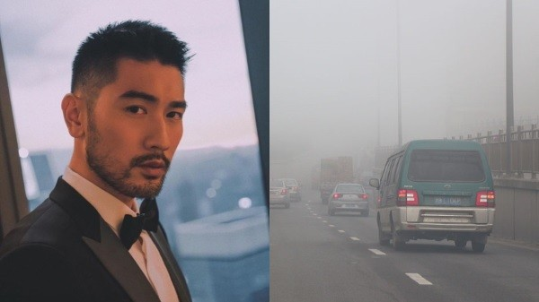 Gao (left), pollution in Ningbo (right). (Photos from Weibo and Wikimedia Commons)