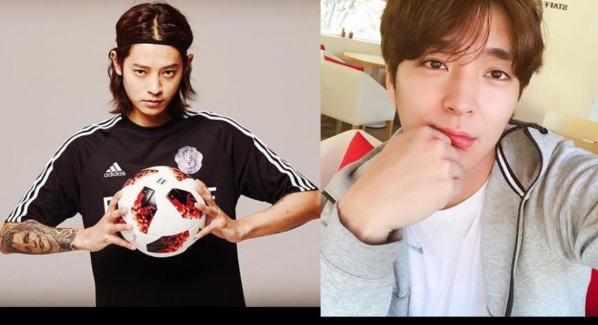 南韓藝人鄭俊英(左)和崔鍾訓(右)。(圖取自IG/TN後製)