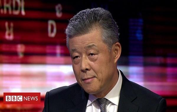 "Liu Xiaoming on BBC's ""HARDtalk"" (BBC screenshot)"