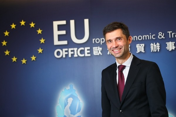 Head of EU Mission in Taiwan Filip Grzegorzewski