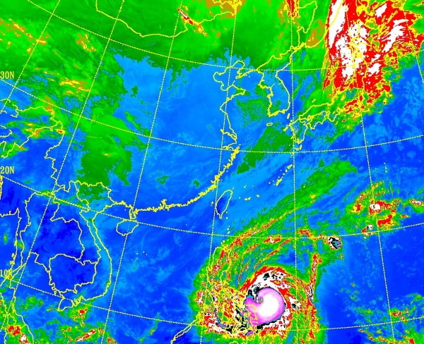 (CWB satellite image of Western Pacific)