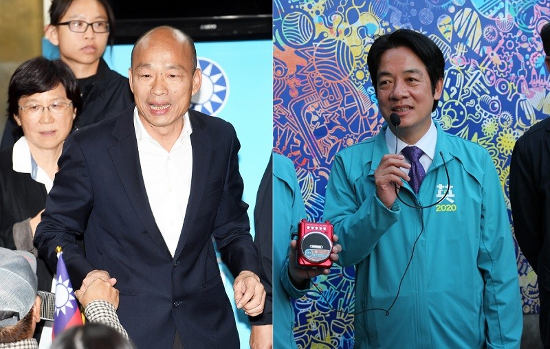 左為韓國瑜, 右為賴清德(原圖取自中央社, TN合成)