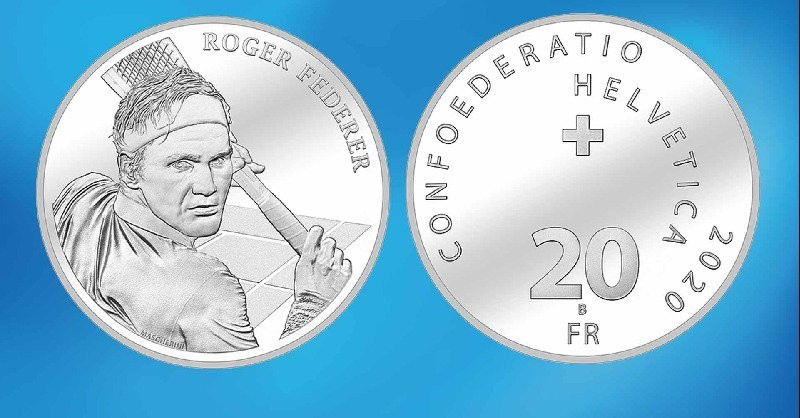 In a first, Federer's face to go on Swiss coin