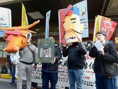台灣移工聯盟12月3日在勞動部錢舉辦行前記者會(圖/ 中央社)
