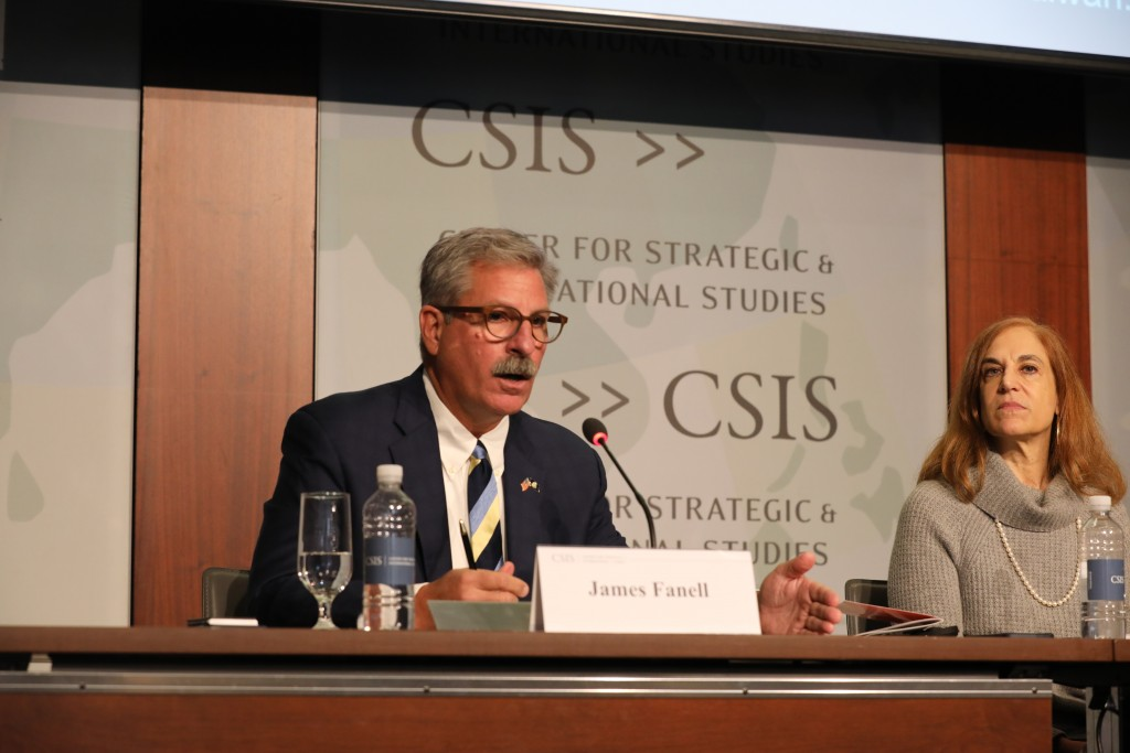 Retired Navy Captain James Fanell (left) with CSIS expert Bonnie Glaser.