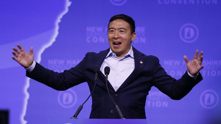 U.S. presidential contender Andrew Yang.