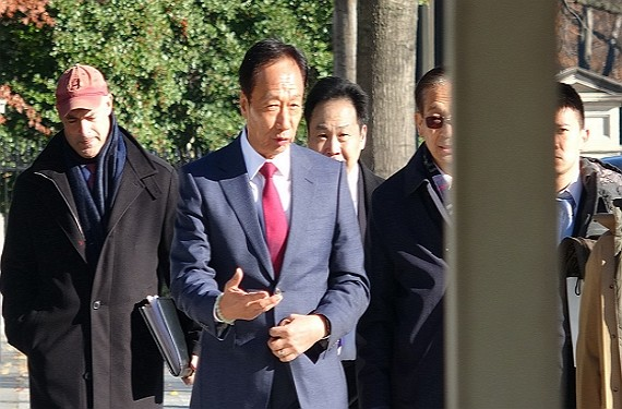 Terry Gou meets with White House officials Dec. 5.