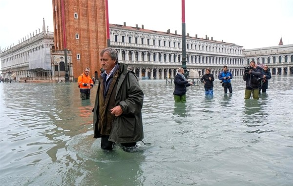 Venice suffered disastrous flooding in November.