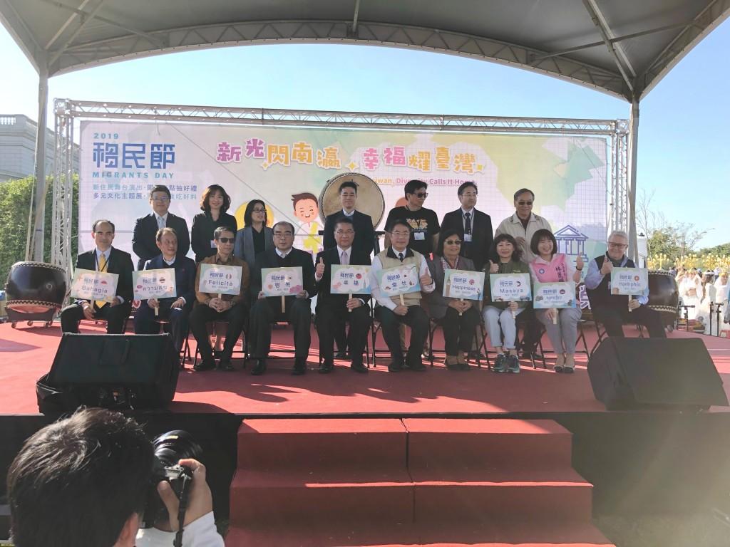 徐部長與臺南市黃市長,以及各國貴賓大合照。