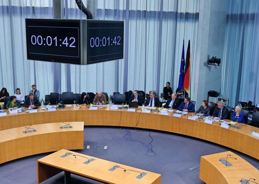Hearing held at German Bundestag on Dec. 9.