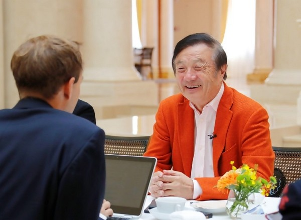 Ren Zhengfei interviewed by The Globe and Mail. (Huawei photo)