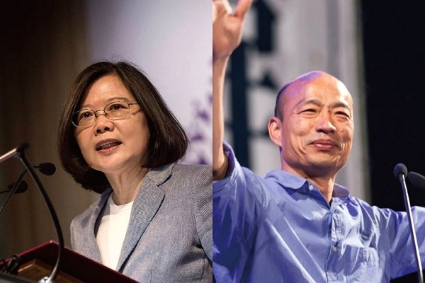 Tsai Ing-wen will go against Han Kuo-yu in January election. (Facebook photo)