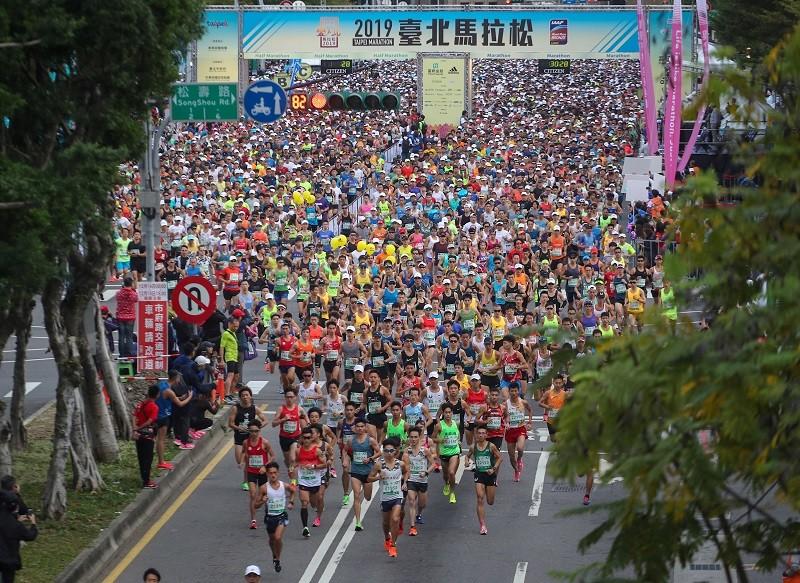 The 2019 Taipei Marathon (CNA photo)