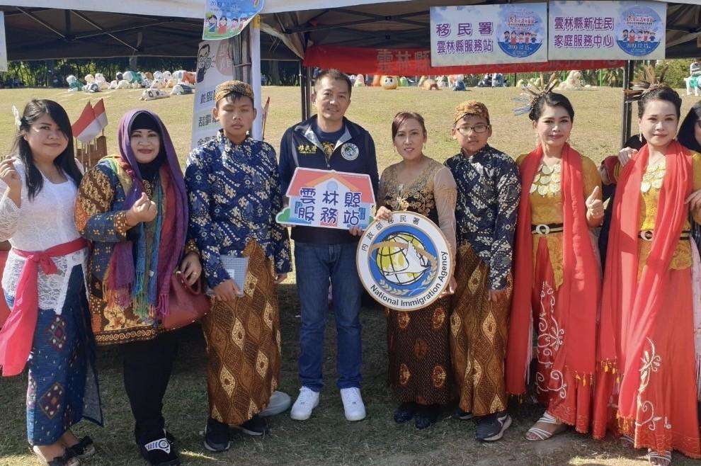 雲林移民節活動,新住民著母國服飾出席(移民署雲林服務站提供)