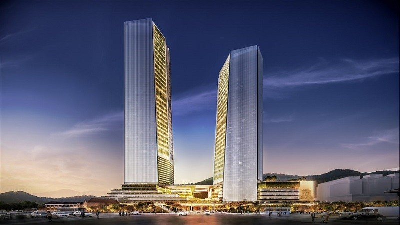 台北雙子星開發案17日正式簽約,預計6年9個月可完工。中央社