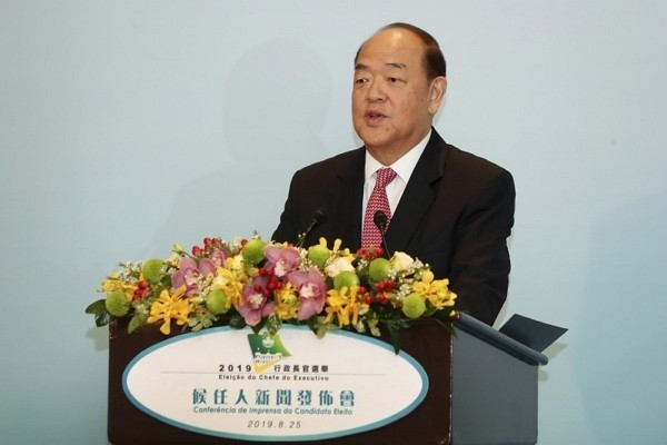 Macau's Chief Executive Ho Lat-seng
