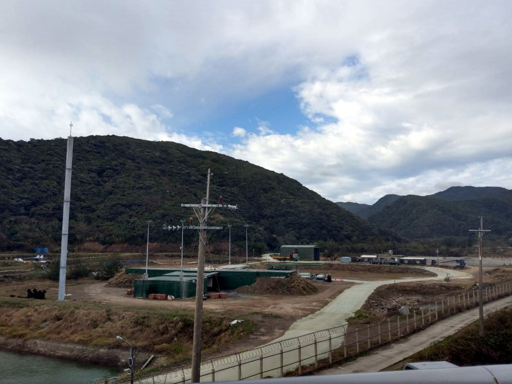The rocket launch site in Daren, Taitung County.