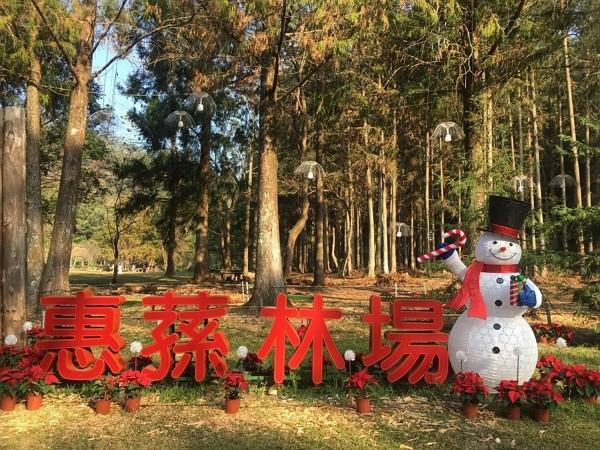 Huisun Forest Area to hold tree lighting ceremony on Dec. 20. (NCHU photo)