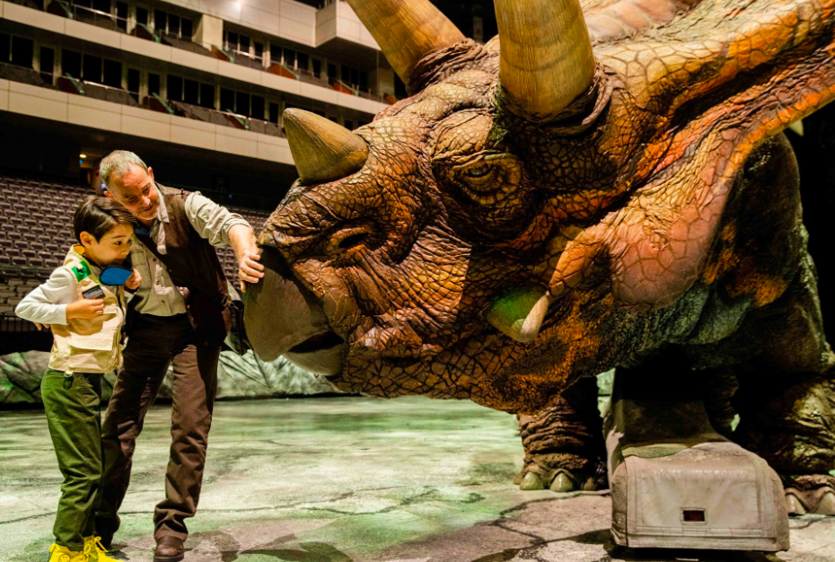 """Walking With Dinosaurs"" at Taipei Arena (Justlive photo)"