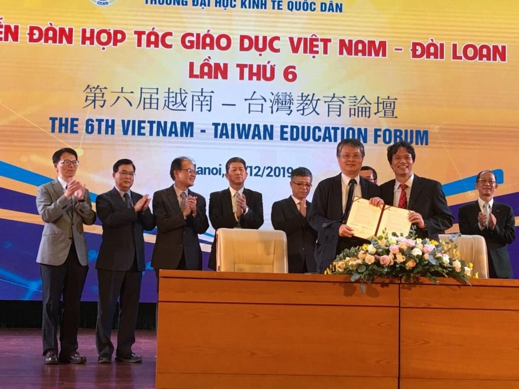 台越正式簽署「高等教育文聘及培訓課程互認協定」(圖/ 教育部)