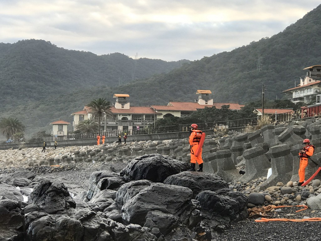 The search for a missing diver in Daxi, Yilan County.