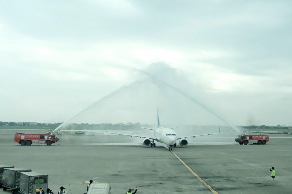 Taoyuan welcomed the first flight by Fly Gangwon Thursday.