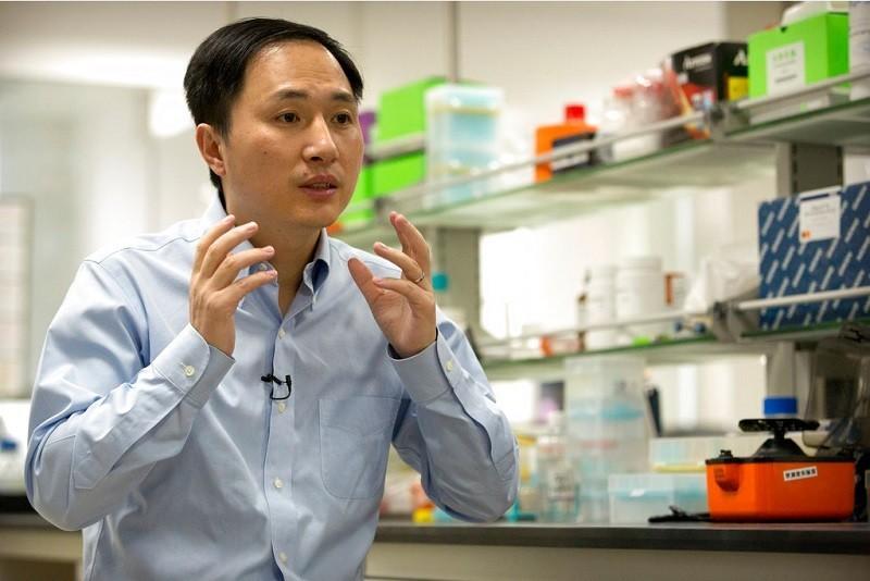 遭判刑的中國科學家賀建奎 (美聯社檔案照片)